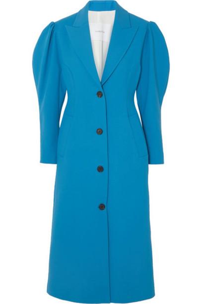 Pushbutton - Crepe Coat - Blue