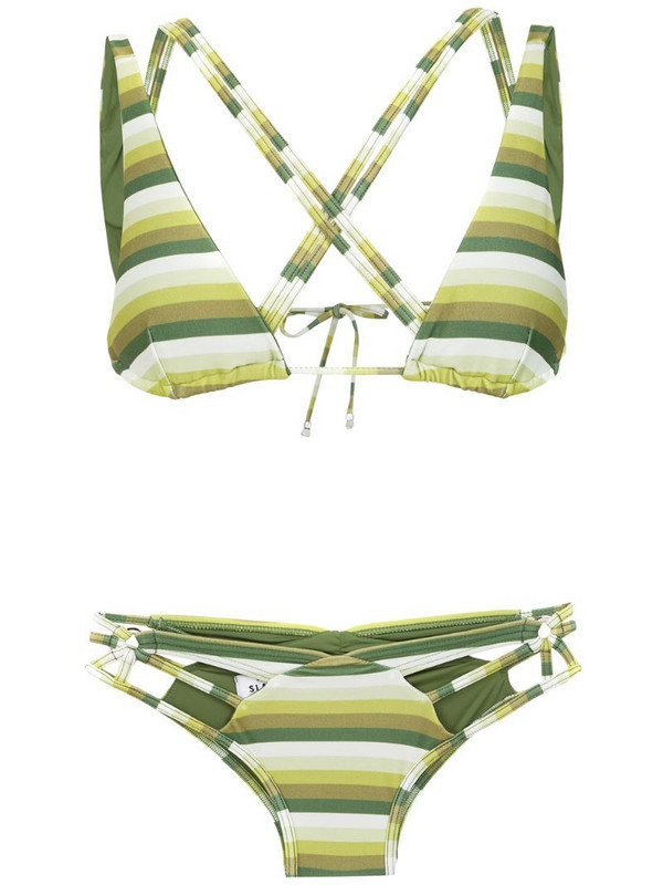 Amir Slama striped bikini in green