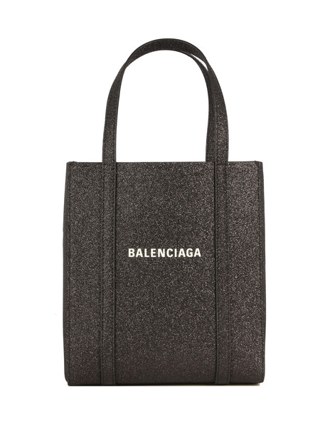 Balenciaga Everyday Tote Xxs Aj Glitter in black