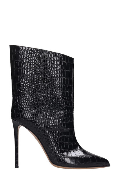 Alexandre Vauthier Ankle Boots In Black Leather