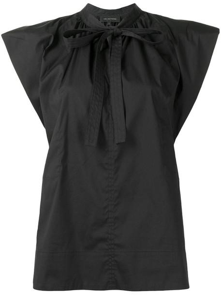 Lee Mathews Maleo puff-sleeve top in black