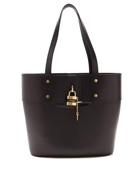 Chloé Chloé - Aby Small Leather Tote Bag - Womens - Black