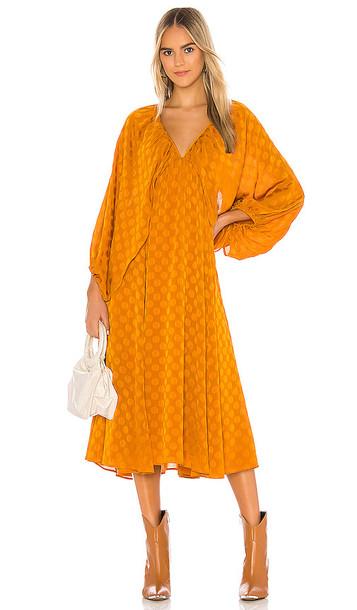 Tularosa Nola Midi Dress in Orange