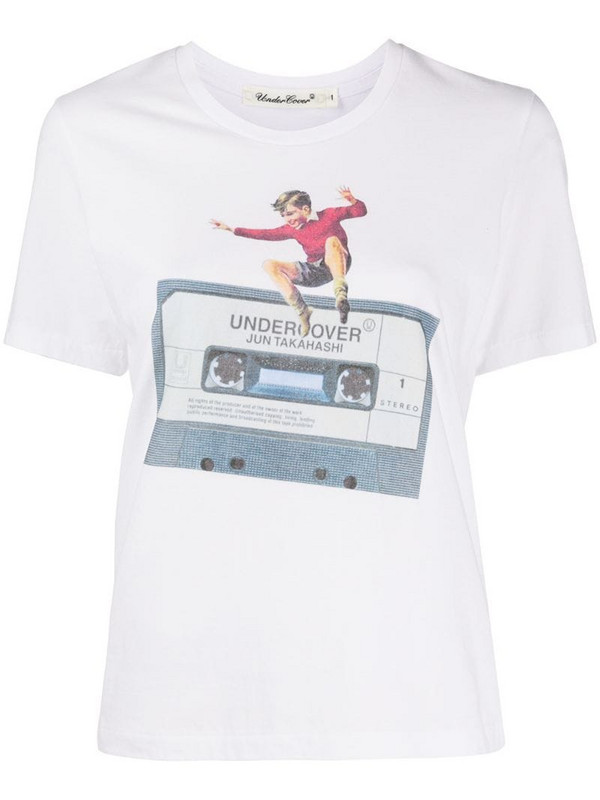 Undercover mixed-tape print T-shirt in white