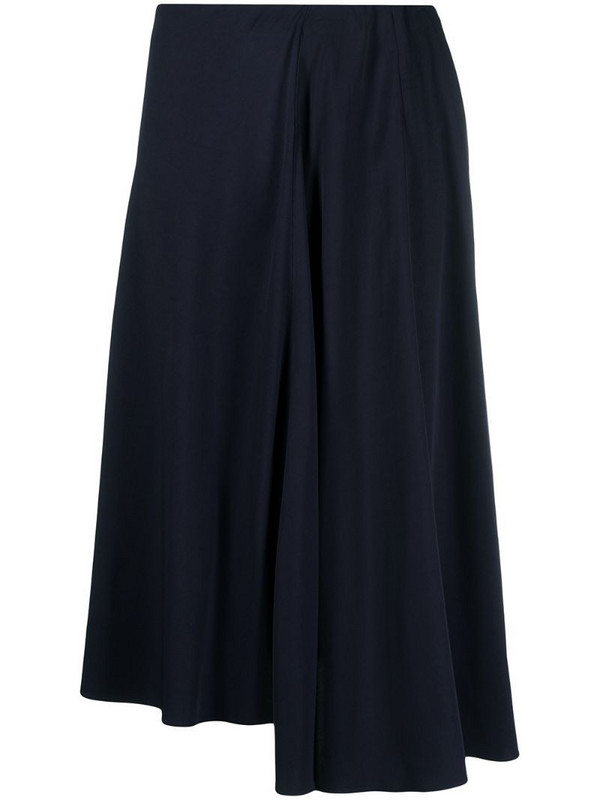 Aspesi drape-detail midi skirt in blue