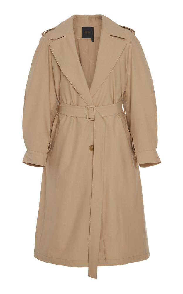 Agnona Eternals Fresco Lana Waterproof Trench Coat in neutral