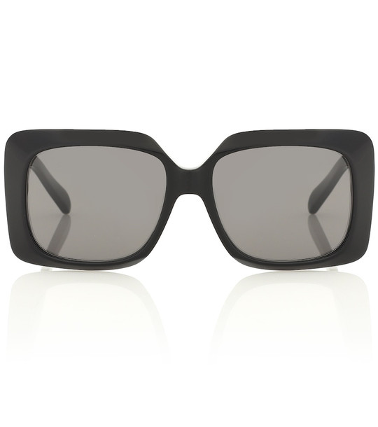 Celine Eyewear Oversized acetate sunglasses in black