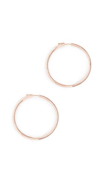 Nickho Rey Statement Hoop Earrings in gold / rose