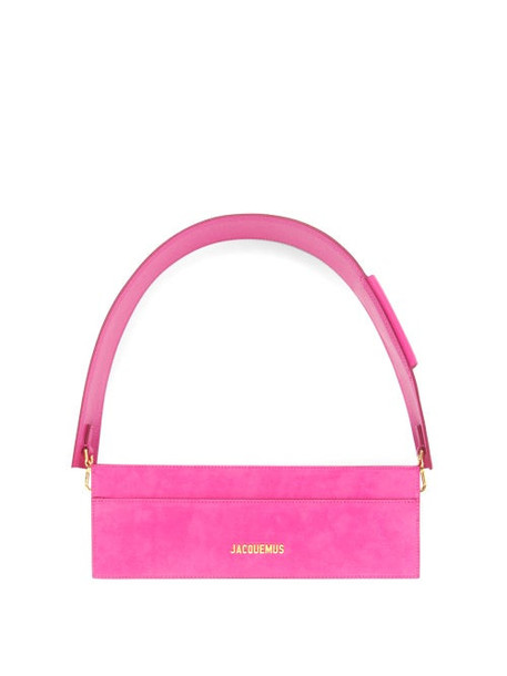 Jacquemus - Cuicui Small Suede Shoulder Bag - Womens - Pink