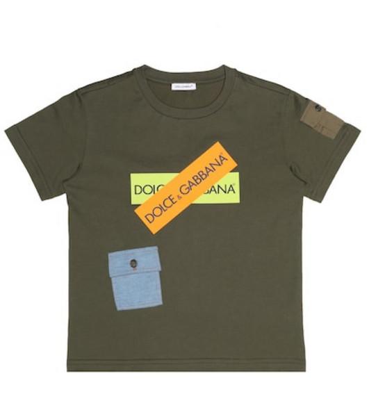 Dolce & Gabbana Kids Cotton jersey T-shirt in green