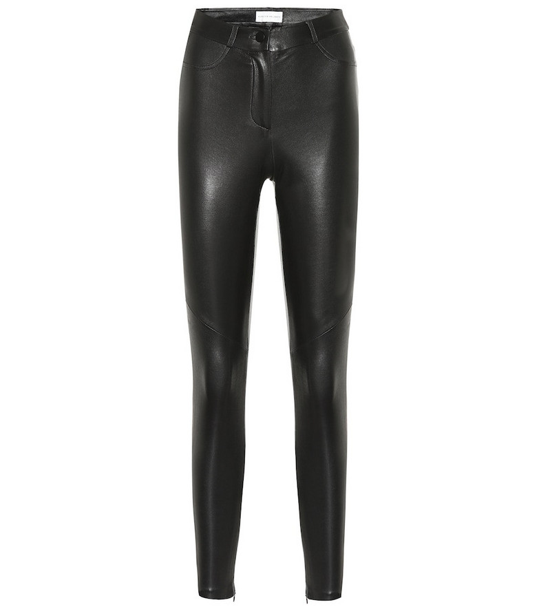 Rebecca Vallance Coco high-rise skinny leather pants in black