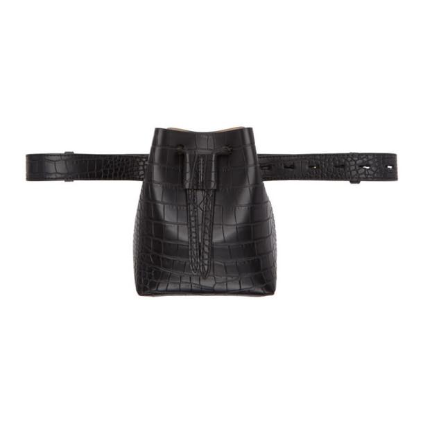 Nanushka Black Mini Minee Bucket Bag
