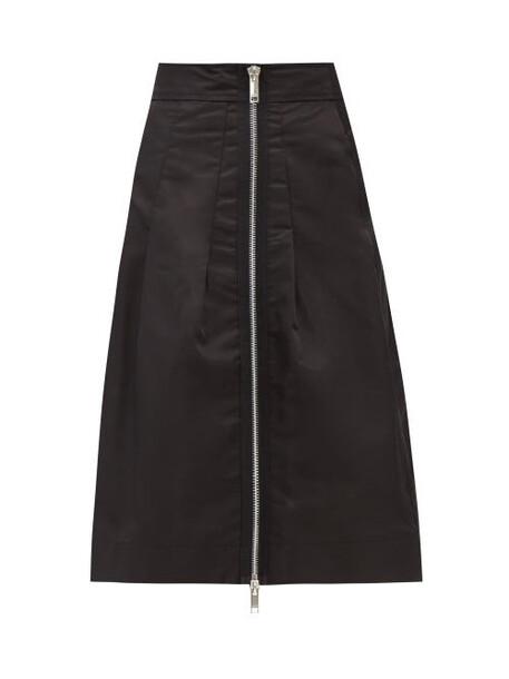 Ganni - High-rise Recycled-nylon Midi Skirt - Womens - Black
