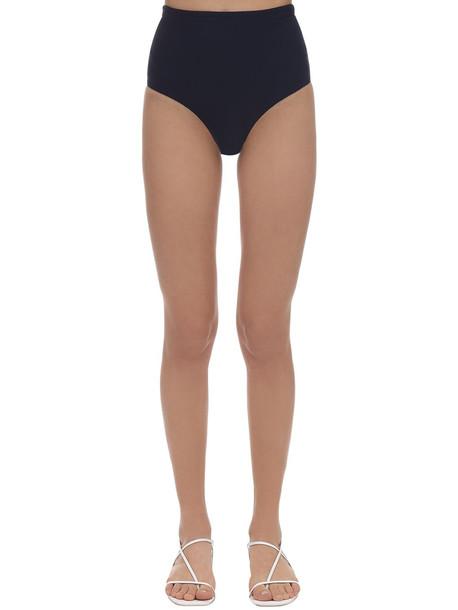 BONDI BORN Tatiana Lycra High Waist Bikini Bottoms in navy