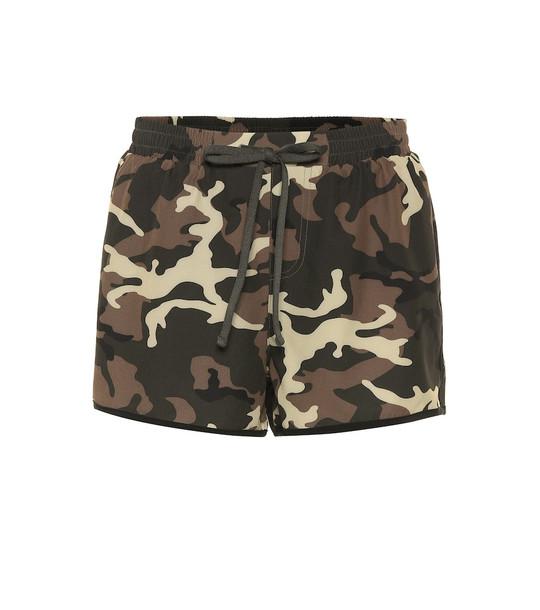 The Upside Camo Run shorts in green