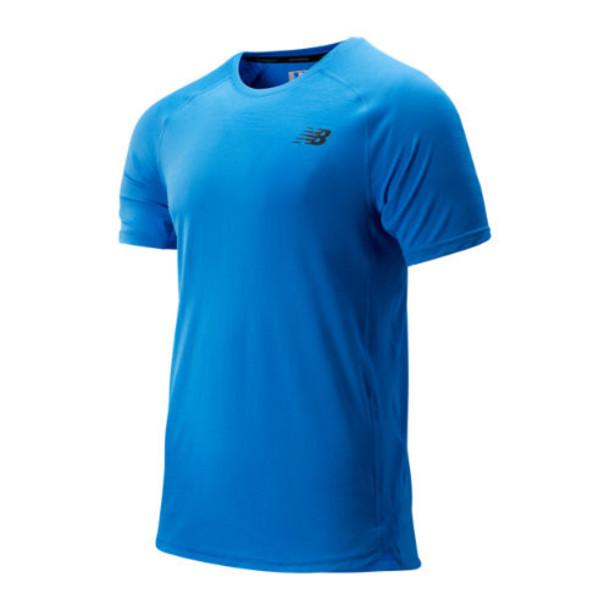 New Balance 93051 Men's R.W.T. Short Sleeve Top - Blue (MT93051LBE)