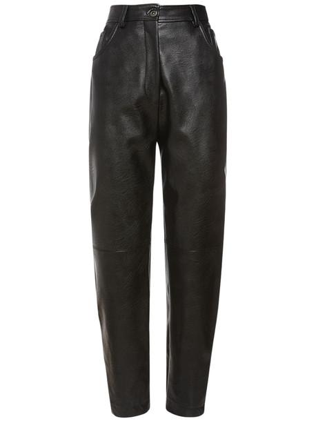 STELLA MCCARTNEY Fake Leather Straight Leg Pants in black