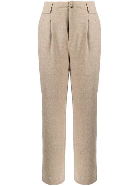 Ba&Sh straight leg trousers in neutrals