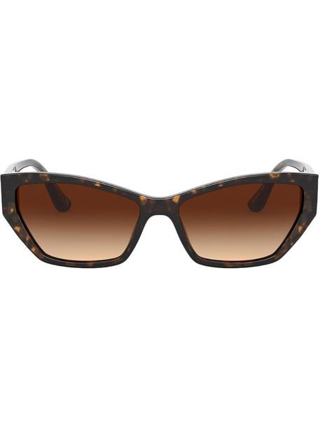 Dolce & Gabbana Eyewear tortoiseshell rectangular sunglasses in brown