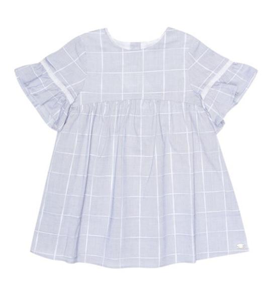 Tartine et Chocolat Checked cotton dress in blue