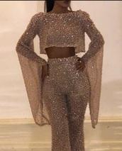 blouse,dress,gold sequins