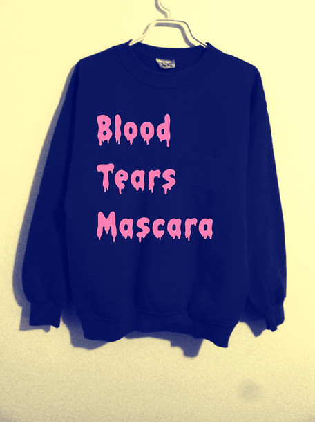 sweater sweatshirt t-shirt quote on it t-shirt mascara quote on it black black sweater pullover blouse top t-shirt pink girly cute tumblr girl tumblr shirt tumblr shirt grunge hipster new york city blogger sweater sweater black sweatshirt pullover