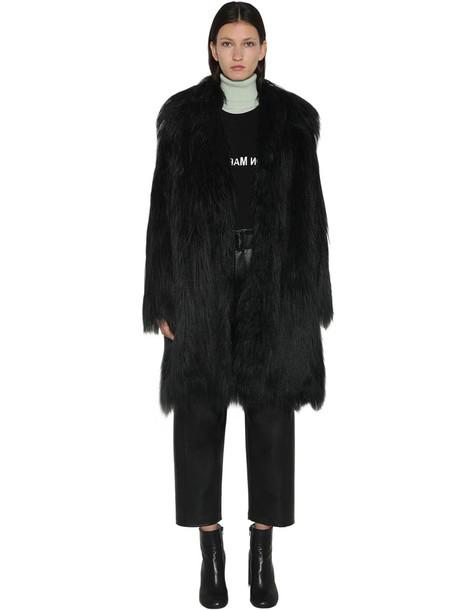 MM6 MAISON MARGIELA Faux Fur Coat in black
