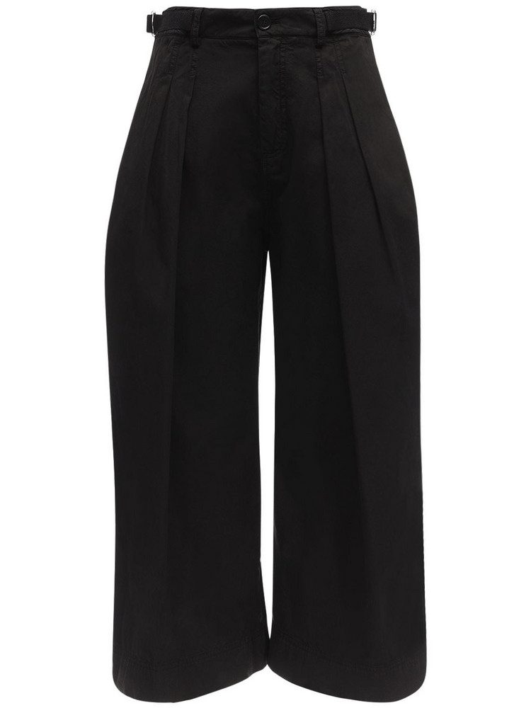 JW ANDERSON Cropped Canvas Pants in black