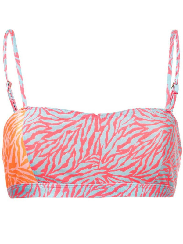 Suboo Sienna printed bikini top in pink