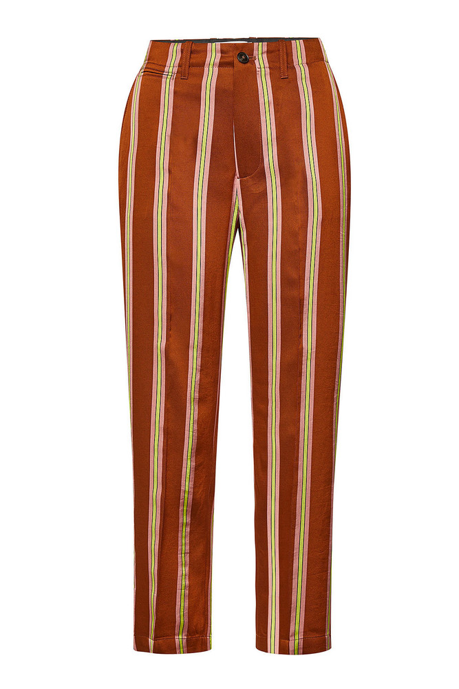 Closed Bertha Striped Pants with Cotton