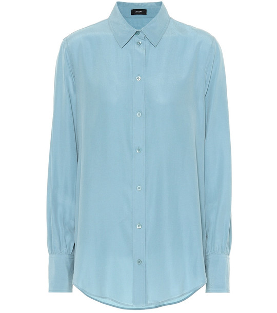 Joseph Silk shirt in blue