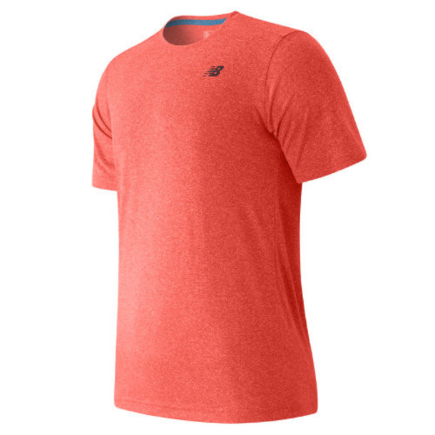 New Balance 53081 Men's Short Sleeve Heather Tech Tee - Red (MT53081AMH)