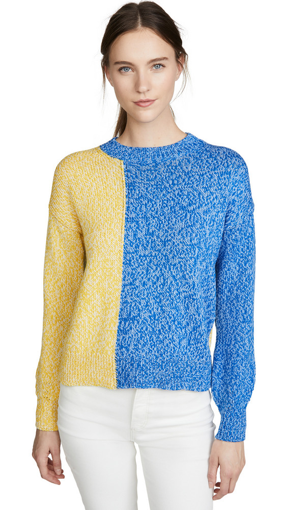 Chinti and Parker Movement Sweater in blue / cream