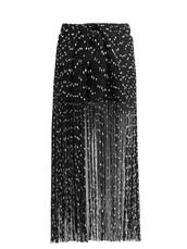 skirt,fringe skirt,embroidered,black
