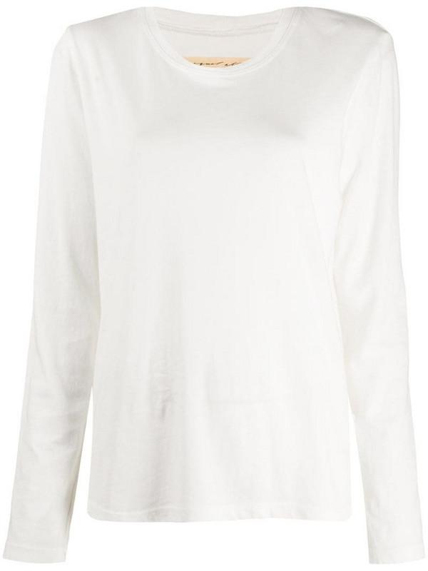 Raquel Allegra round neck jumper in white