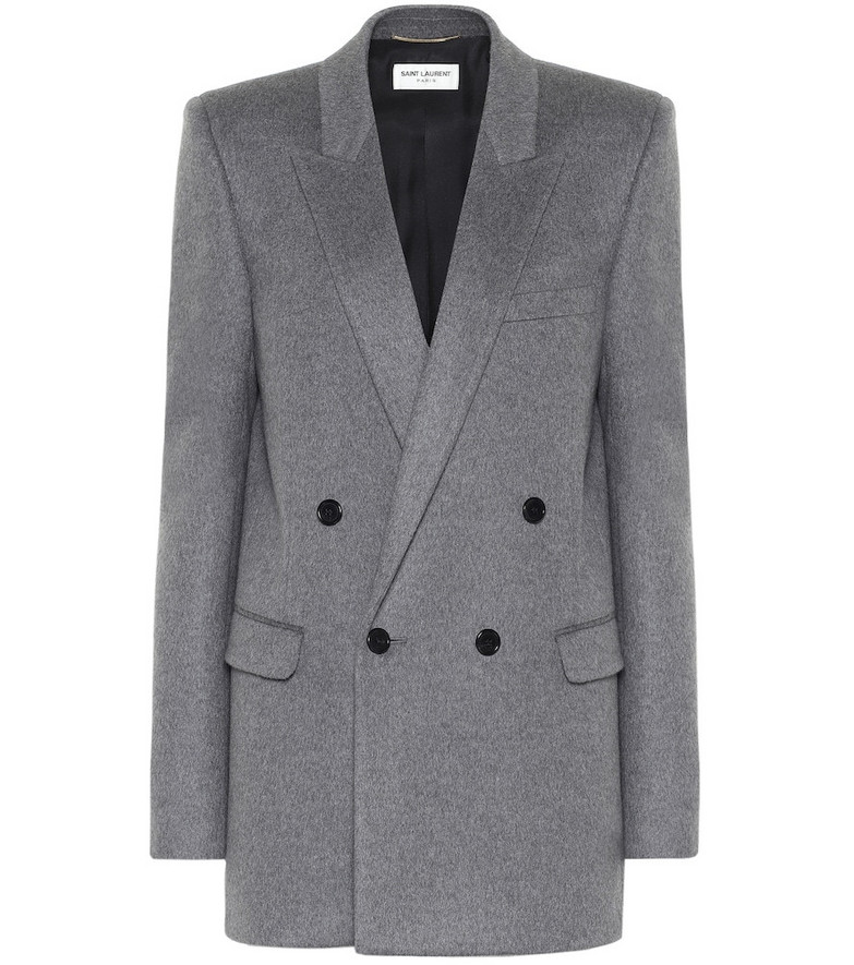 Saint Laurent Wool and cashmere blazer in grey