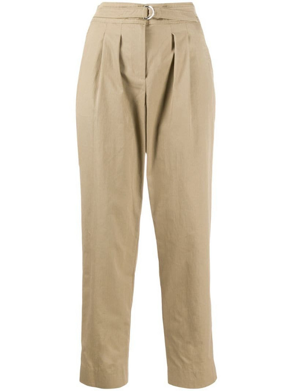 A.P.C. high-waisted cropped trousers in neutrals