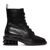 combat boots,black,shoes