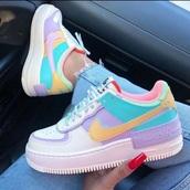shoes,nike air force 1,nike,nike shoes,nike sneakers,pastel,sneakers