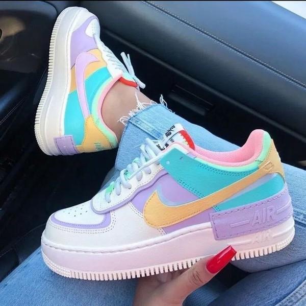 shoes nike air force 1 nike nike shoes nike sneakers pastel sneakers