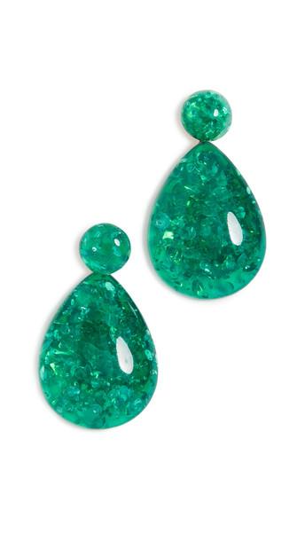 Shashi Angelina Earrings in green