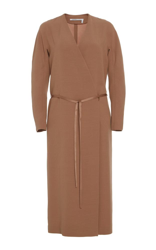 Agnona Wrap Midi Dress in neutral