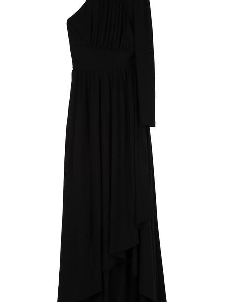 Givenchy Draped Asymmetric Dress in black