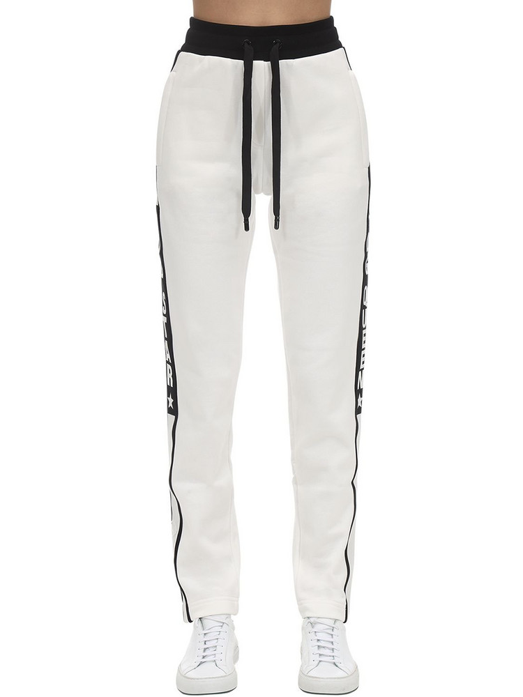 DOLCE & GABBANA Cotton Jersey Track Pants W/side Bands in white