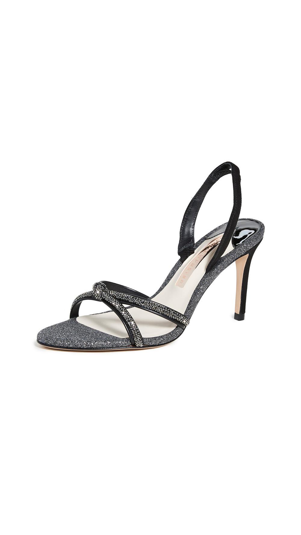 Sophia Webster Giovanna Mid Sandals in black / silver