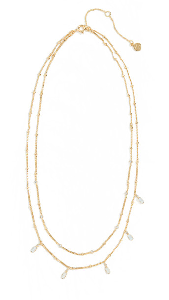 Gorjana Dani Layered Necklace in white
