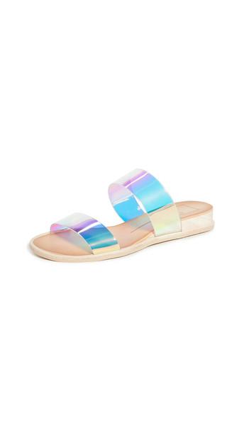 Dolce Vita Payce Slide Sandals in silver