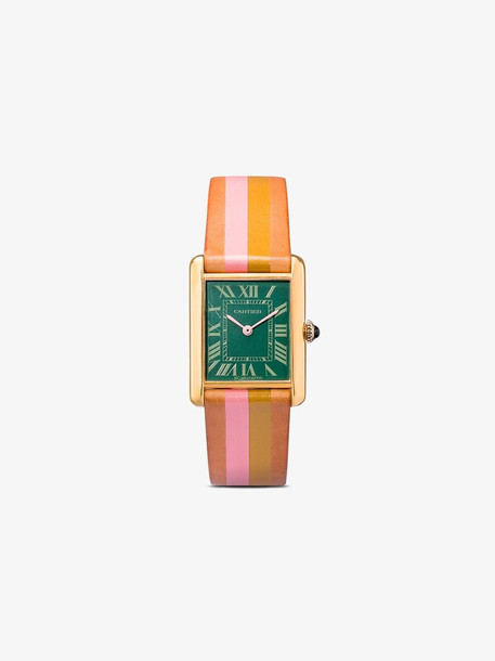 La Californienne Multicoloured Seafoam Sage Honeysuckle vintage Cartier watch