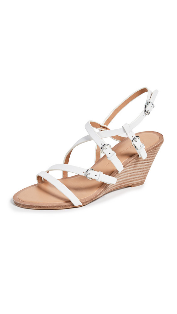 Sigerson Morrison Maia Demi Wedges Sandals in white