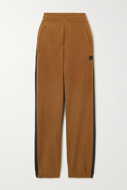 Acne Studios - Prescot Face Jersey Track Pants - Brown